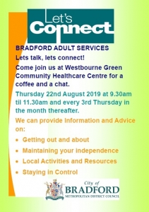 Let's Connect - Bradford Adult Services - Westbourne Green CHCC @ Westbourne Green Community Health Centre | England | United Kingdom