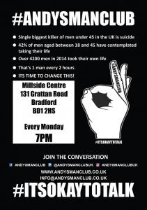 Andys Man Club - Its OK to Talk @ Millside Centre