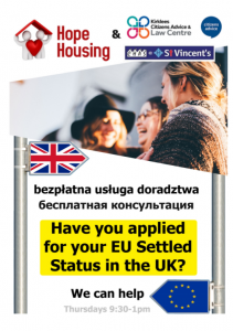 Hope Housing - Have You Applied for Your EU Settled Status?