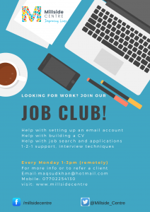 Join the Job Club @ Millside Centre | England | United Kingdom